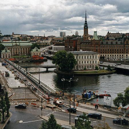 Sheraton Stockholm Hotel: view from the Tower lounge to the old town