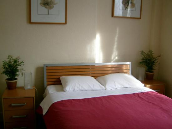 Double room at the Belgravia Hotel, Victoria, London, UK