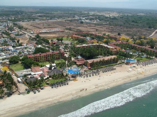 Royal Decameron Complex: Aerial shot taken while parasailing