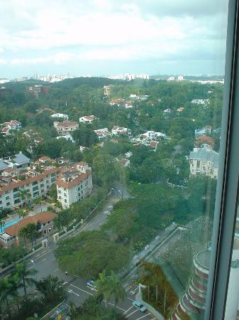 Shangri-La Hotel, Singapore: view from our other bedroom window