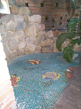 Casa Rosa: The shower floor is fantastic