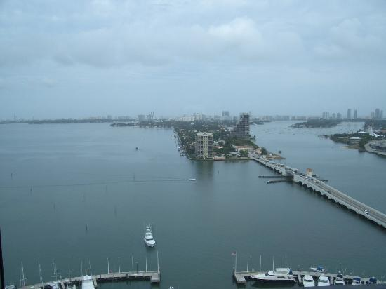 Miami Marriott Biscayne Bay: View of South Beach from the Conscierge Room