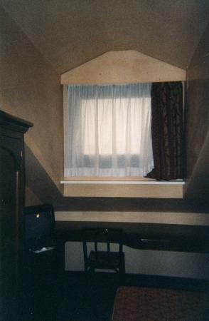 Le Boulevard Hotel: Only window in room - head height - and photo flatters!