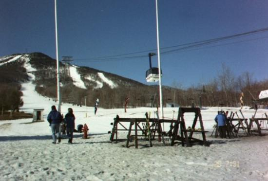 Jay Peak Resort: Out the backdoor of the Hotel Jay.