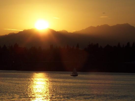 Comfort Inn Port Orchard: sunset from the balcony (beautiful every night!)