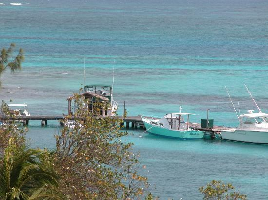 Petit St. Vincent Resort: view of water and dock