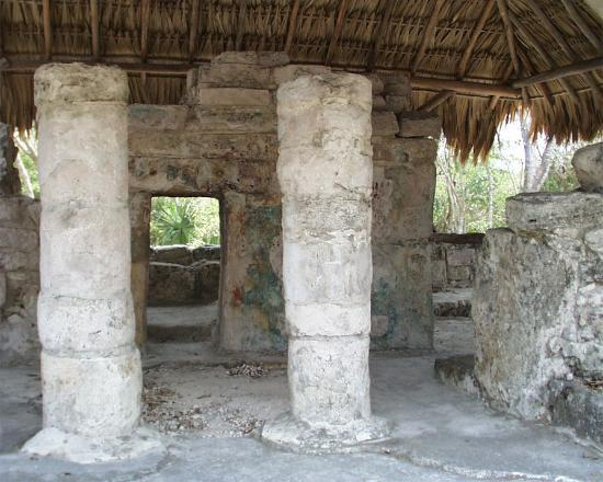 Cozumel, Mexico: Temple with the mysterious red hands.