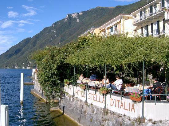 San Mamete Valsolda, Ιταλία: Hotel from Lake