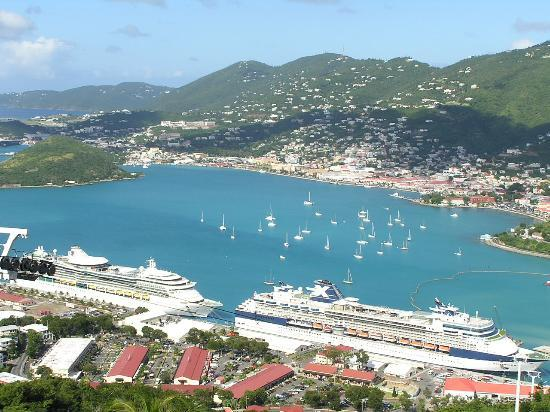Cruise ship dock at Charlotte Amalie