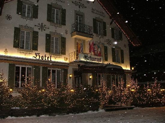 A typical style hotel in Gstaad.