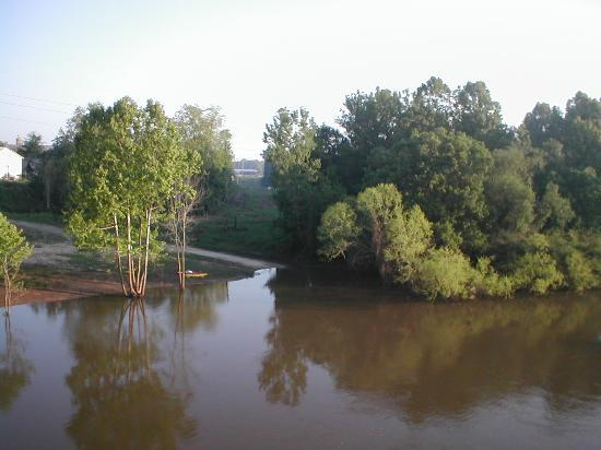 Peach State Inn & Suites : Ocmulgee river in Hawkinsville