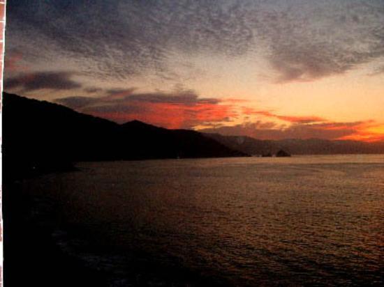 Hotel Playa Fiesta: sunset from the balcony