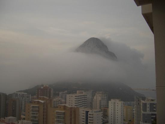 Hotel RH Ifach : A view from our room of the rock on a misty morning