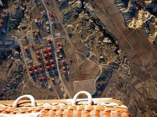 Kapadokya Balloons: Looking Straight Down From The Hot Air Balloon
