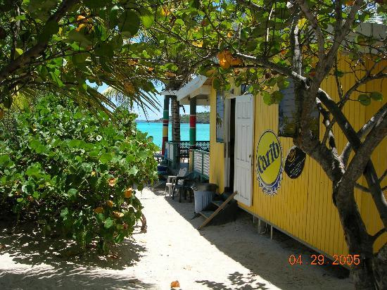 The Valley, Anguilla: Jungle Entrance to Gwen's Reggae Grill