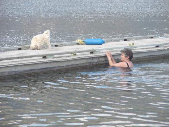 ديستني بيتش ريزورت: me in the lake in early May