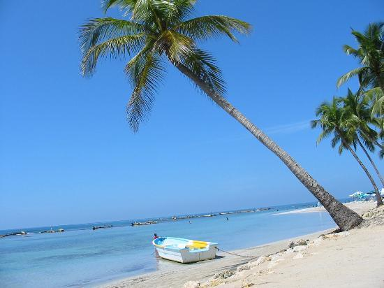 Playa Esmeralda Beach Resort: The beach in front of Hotel Playa Esmeralda (Guayacanes / Juan Dolio)