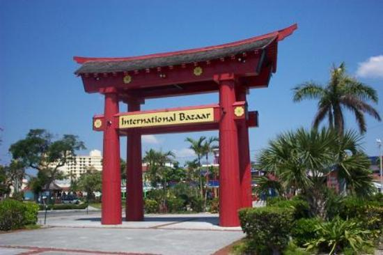 International Bazaar: The welcome sign