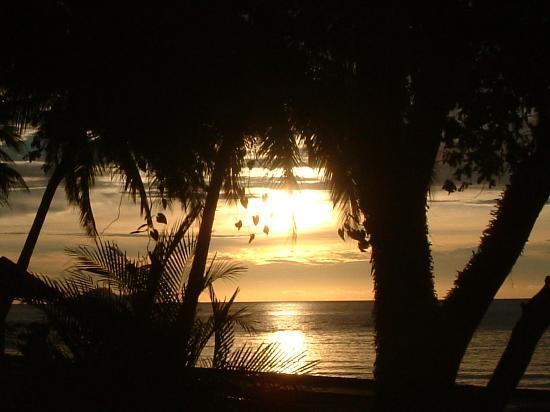 Damai Beach Resort: sunset at Damai