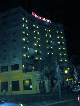Sheraton Old San Juan Hotel: View of the outside at night