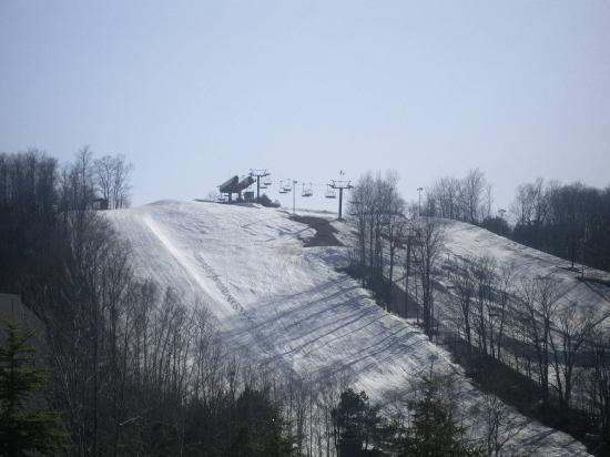 Carriage Hills Resort: melted snow once again
