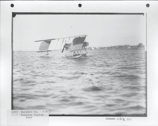 Marblehead Museum & Historical Society: Burgess Dunne Aeroplane, 1915, Marblehead Harbor