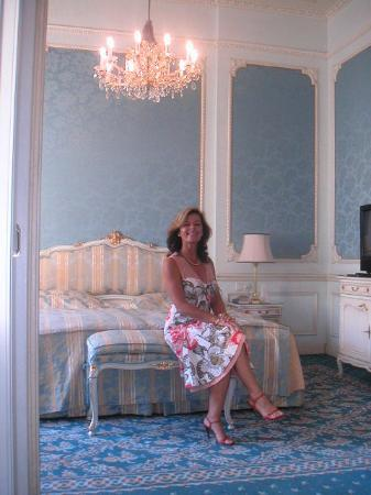 Hotel Imperial Vienna: My wife posing in the bedroom suite