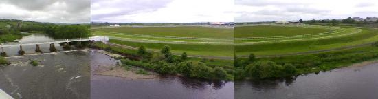 Listowel racecourse from Listowel Arms Hotel room 33