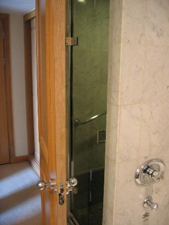 The Chelsea Harbour Hotel : How door backs onto shower