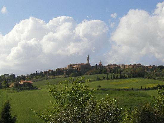 View of Pienza from Le Traverse