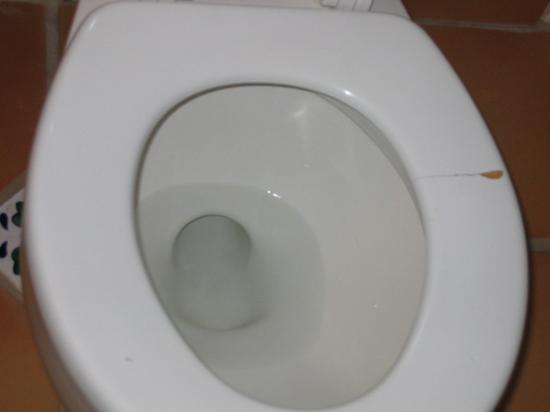 Inn at Avila Beach: Toilet seat cracked thru on the right side