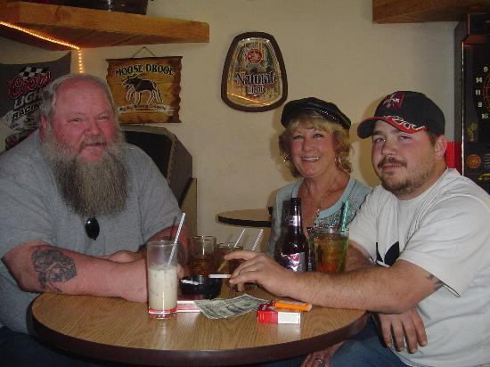 Harley's Pub: My husband,son and owner Cathy