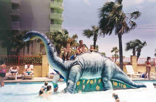 Sea Mist Oceanfront Resort: The Dinosaur Slide at the Children's Activity Pool