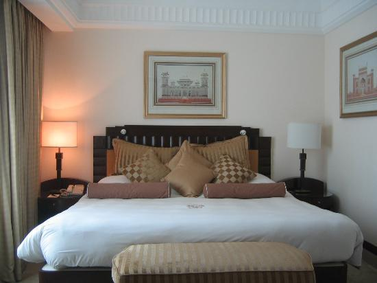 The Imperial Hotel: bed with 12 (count it, 12) pillows