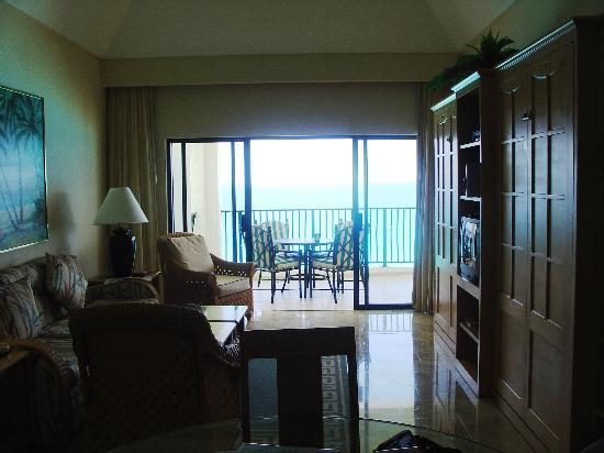 The Royal Sands Resort & Spa All Inclusive: View of Living Area looking toward Balcony