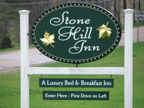 Stone Hill Sign as we were leaving