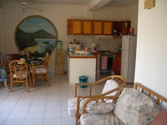 Playa Parguito, Venezuela: Our living dining area