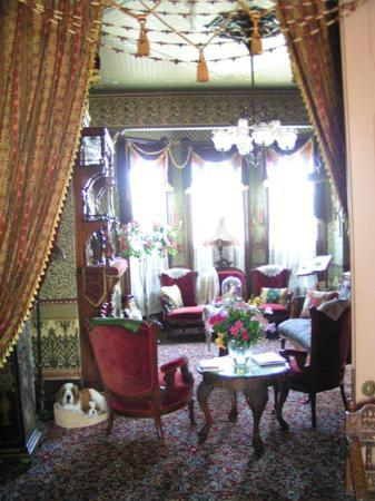 Abigail's Elegant Victorian Mansion - Historic Lodging Accommodations: The Sitting Room