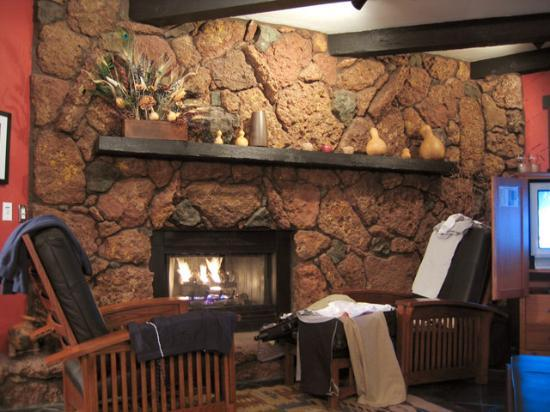 The Lodge at Sedona: in-room fireplace and sitting chairs