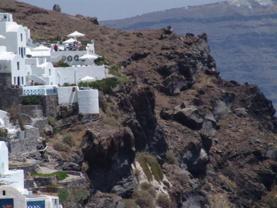 Ikies - Traditional Houses: A View of Ikies (Upper Left) from Oia