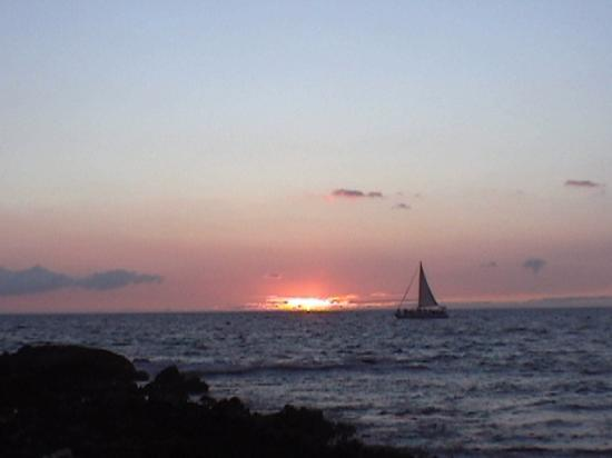 Hawaii, HI: sunset from Kohala