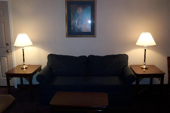 Comfort Inn Mount Shasta Area: Sitting/reading area in the living room
