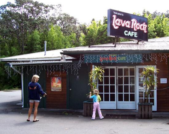 Volcano's Lava Rock Cafe: Outside of cafe
