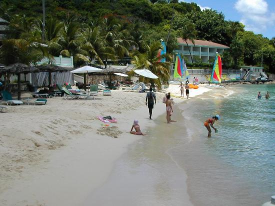 Blue Waters Antigua: View of Main Beech