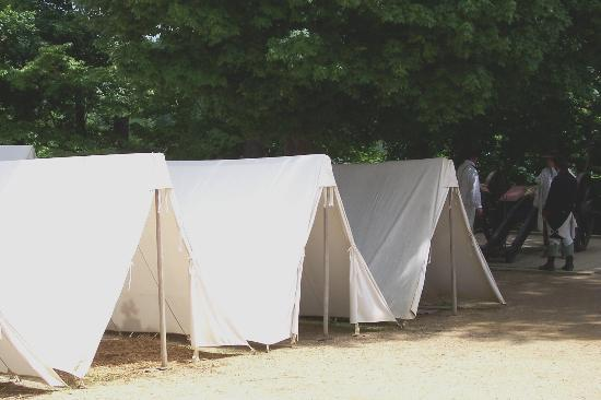Yorktown, Virginie : See where the soldiers slept and how they lived in the encampment.
