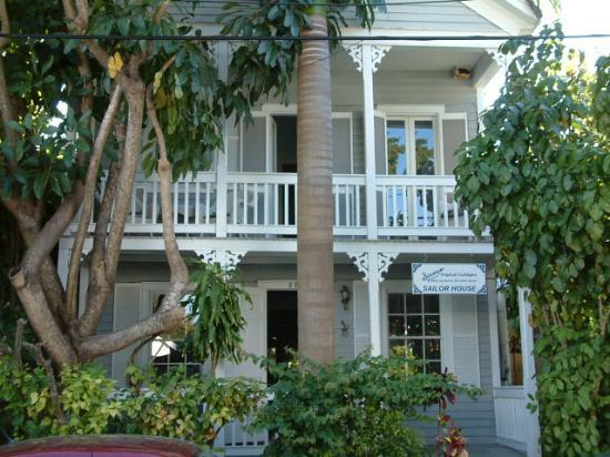 Seascape Tropical Inn: The front of the Sailor House, with an inviting front porch.