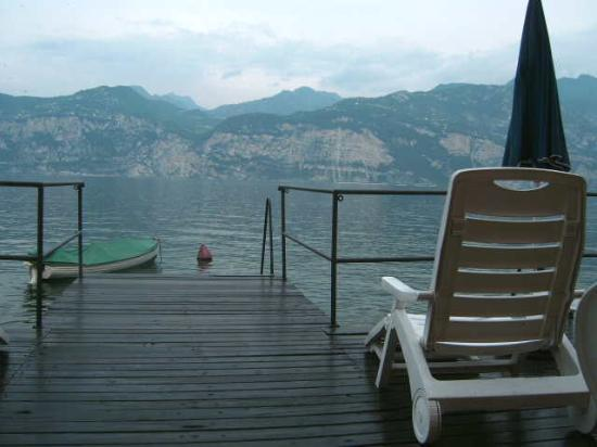 Hotel Sirena: View of lake taken from the Hotel's sun deck