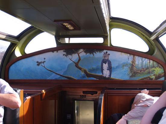 Panama Canal Railway: Mural in Car... Harpy Eagles