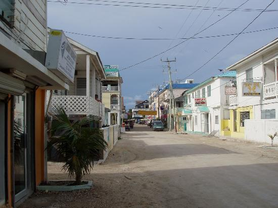 Xanadu Island Resort: main street in San Pedro