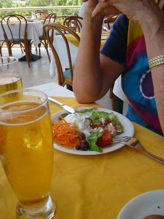 Holiday Village Kos by Atlantica : My first course and first beer